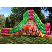 Buy cheap Bull Theme Bright Color Inflatable Water Slides With 25 Feet Long For Kids And Adult from wholesalers