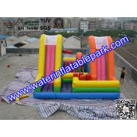 Colored Commercial Grade PVC Tarpaulin Inflatable Bouncy Castle Slide Combo Manufactures