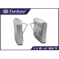 Double Anti - Clipping Access Control Turnstile Gate Retractable Flap Barrier