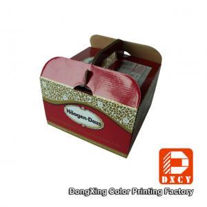 China Sturdy Cardboard Fancy Wedding Cake Boxes Big Glossy Lamination Handle on sale
