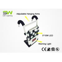 5000 Lumens 50 Watt Portable Rechargeable Work Lights With Adjustable Hanging Arms Manufactures