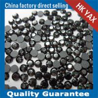Quality Lead free hot fix rhinestones jet nut color for sale