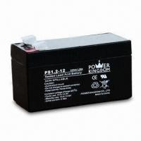 Sealed Lead-acid Battery with 12V Voltage and 1.2Ah Nominal Capacity, Measures 97 x 43x 52mm Manufactures
