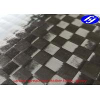 12K Spread Tow Carbon Fiber Glossy Polyurethane Leather Fabric Manufactures
