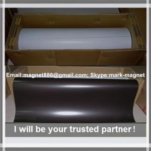 China Magnetic sheet; Flexible rubber magnet roll Магнитный винил 0,4мм с клеевым слоем (0,62м х 30,5м) on sale