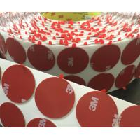 Buy cheap Die cutting Adhesive Tape Custom Shape Adhesive Tape Round Dots with Tabs from wholesalers