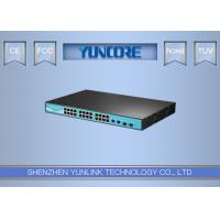 802.3at 48V Standard Power Over Ethernet Switch , Fast 24 Port POE Network Switch Manufactures