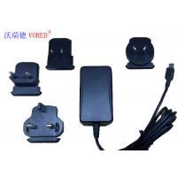 18W 12V Interchangeable Power Supply For Network Switch 1.5m Cable Length Manufactures