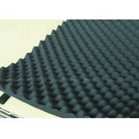 China Black High Density Acoustic Foam Panels Egg Crate Soundproof Rubber Foam 20mm on sale