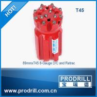 Drilling rock tools T45 89mm rocket drill threaded button bit Manufactures