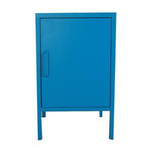 Single Door Nightstand 2 Layer Steel Bedside Cabinet Manufactures