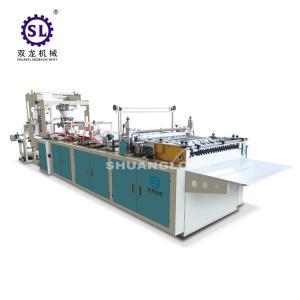 Slef-closing zipper bag making machine automatic polythene 12.8kw Power Manufactures