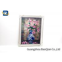 Quality Modern Style 3D Lenticular Pictures Beautiful Flower Picture / Printing for sale