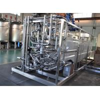 Milk Heating Dairy Processing Equipment 137-142℃ UHT Tubular Pasteurizer 8TPH Manufactures