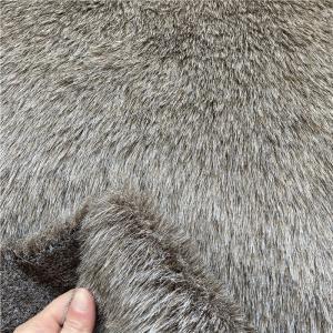 Shoes Garment Car Seat ROHS 180cm Width Faux Fur Fabric Manufactures