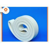 White Sealing Felt Durable Polyester Belt , Felt Conveyor Belt Extrusion Initial Table Manufactures