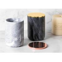 Top Polished Surface Natural Marble Stone Jar Black And White Color With veins Manufactures