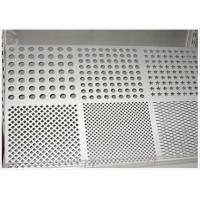 Round Hole Perforated Aluminum Plate , 3003 H14 Aluminum Sheet With Holes Manufactures