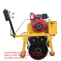 Walk Behind Two Wheel 5.5HP 16L Construction Road Roller Manufactures