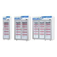 -18~-25℃ Glass Door Upright Display Freezer With Wheels Low Noise Manufactures