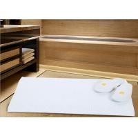 China White Color Modern Hotel Bath Mats For Bathroom Area Microfiber Material on sale