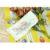 China White Silk Printing Microfiber Drawstring Eyeglass Pouch Small Size For Cellphone on sale