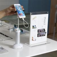 anti-thet system security display grip smartphone stand with cable concealed inside Manufactures