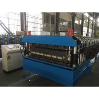 Chain Drive Double Layer Roll Forming Machine / Roll Former With Manual Decoiler Manufactures