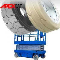 APEX Mould On Tire for Scissor Lift, Sweepers, Floor Cleaner, Road Paver, Shield Hauler Manufactures