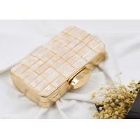 American Style Metal Evening Clutch Bags Fashion Anniversary With Masonry Plaid