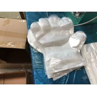 Disposable Polythene Hand Gloves , Clear Plastic Food Handling Gloves 26x32cm Manufactures