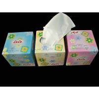 Cube Box Facial Tissue Paper , 2ply * 100 sheets per box Manufactures