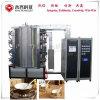 Buy cheap Titanium Nitride Coating Equipment on Ceramic Coffee Cups, PVD Ceramic Gold Ion from wholesalers