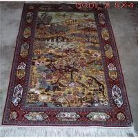 China 500L 100% pure silk hand knotted rug on sale
