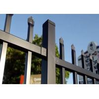 Steel Hercules Security Fencing Slanted Tubular Palisade Fences Ornamental Wrought Iron Panels Manufactures