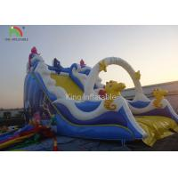 PVC Tarpaulin Blue Inflatable Bouncers Toddler Slide Playground Theme Park Manufactures