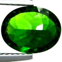 Oval Green Chrome Diopside Gemstone Natural 9 × 7mm For Diopside Rings Manufactures