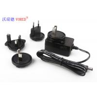 FCC Wall Mounted Charger , AC To DC 12v Power Supply With Interchangeable AC Plugs Manufactures