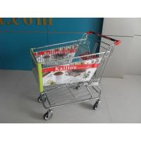 Arclic Advertisement Board Shopping Trolley With Swivel Flat Casters