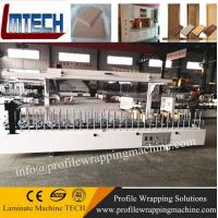PVC White Color Plastic Door Frame profile wrapping machine