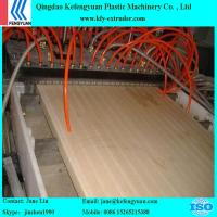 China PVC/PE WPC crust foam board and outside door decoration wpc product making machine on sale