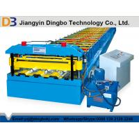 PLC Control System Floor Deck Roll Forming Machine With Cutting Blade Cr12 Manufactures