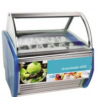 Buy cheap Stable Operation Curved Popsicle Ice Cream Display Freezer Cabinet With 12 Pans from wholesalers