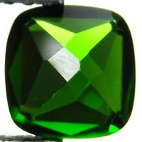 7mm Natural Green Chrome Diopside Cushion For Gemstone Jewelry Manufactures