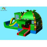 Indoor Inflatable Park Obstacle Course Jumping Castle Green Crocodile , Coconut  Forest - Themed Blend Manufactures