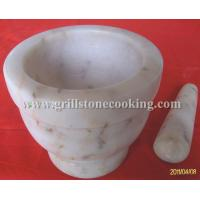 China White marble cookware mortar with pestle on sale