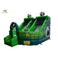 Green Football Childrens Inflatable Bouncy Castle Jumping House Combo Slide For Party Manufactures