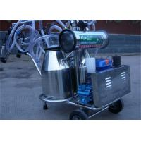 Diesel Engine Double Bucket Cow Milking Machine With Electric Motor / Pulsator Manufactures