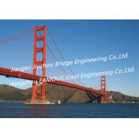 Cool Cable Stayed Red Suspension Bridge Structural Frames Bailey Clear Span Manufactures