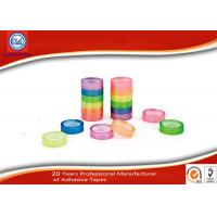 Buy cheap 20m Length Colorful BOPP Stationery Tape With Plastic Core OEM from wholesalers